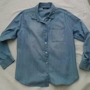 Apt. 9 Tops - Apt 9 Chambray Shirt